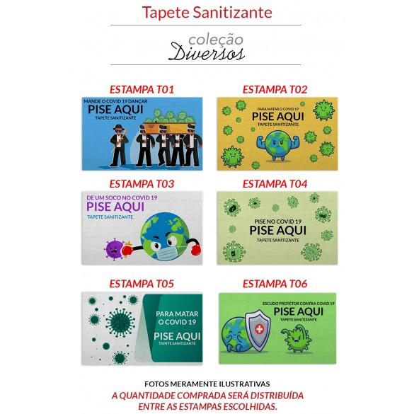 TAPETE ATOALHADO SANITIZANTE - GRANDE 70x130cm